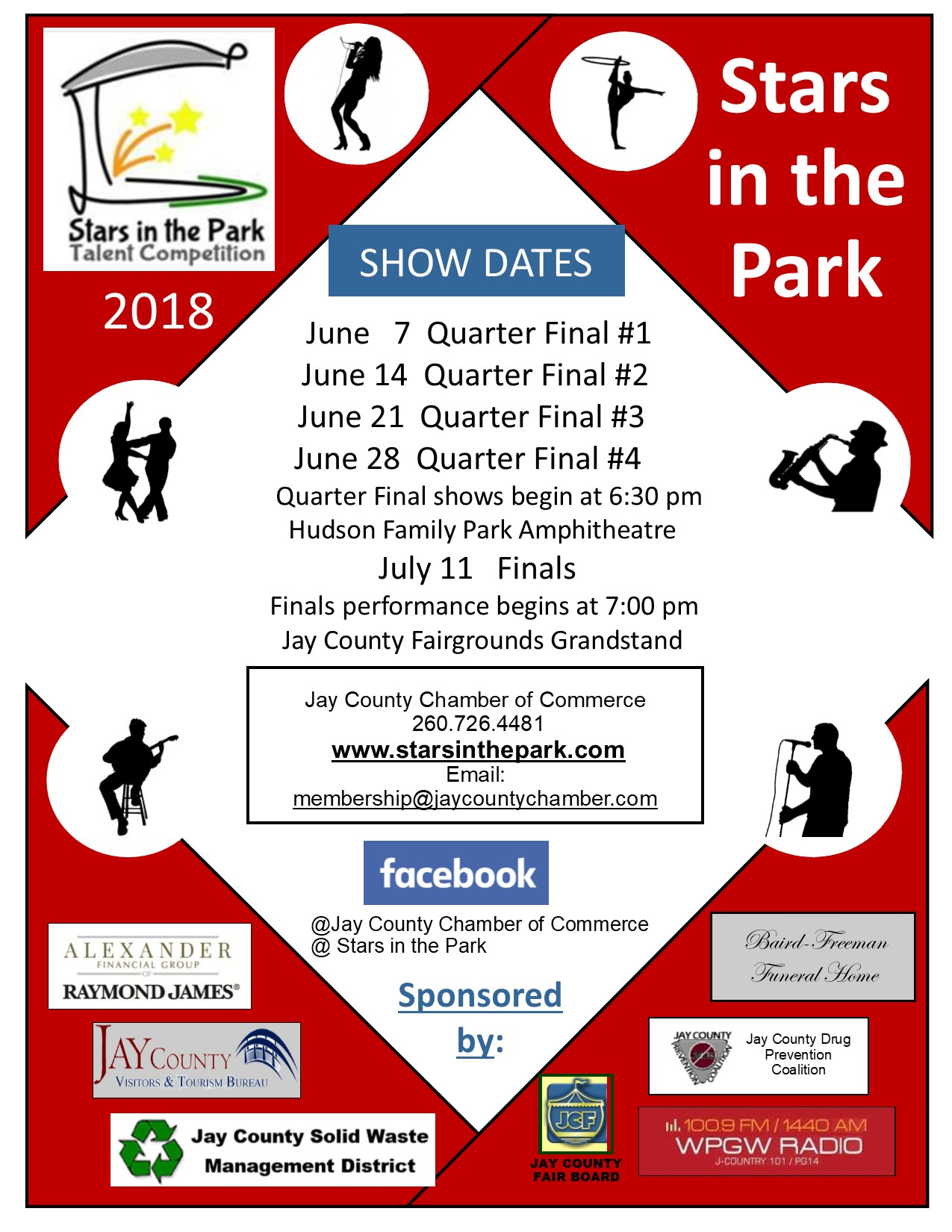 Stars in the Park Poster 2018