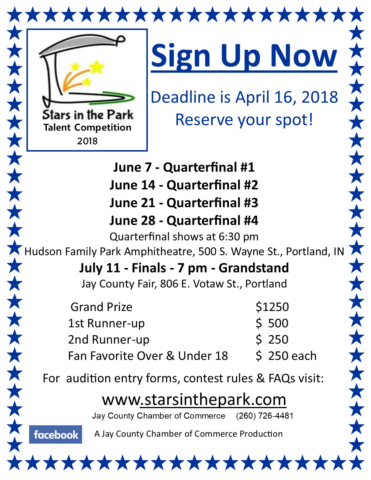 Stars in the Park Flyer 2018
